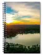Beautiful Sunset Over Lake Wylie South Carolina Spiral Notebook