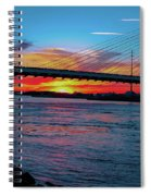 Beautiful Sunset Under The Bridge Spiral Notebook