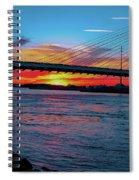 Beautiful Sunset Under The Bridge Spiral Notebook