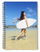 Beautiful Surfer Girl Spiral Notebook