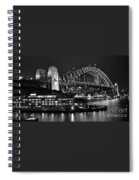 Beautiful Sydney Harbour In Black And White Spiral Notebook