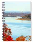 Beautiful View Of The Hudson River 1 Spiral Notebook