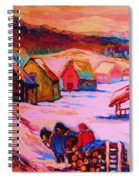 Beautiful Village Ride Spiral Notebook