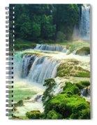 Beautiful Waterfall Crystal Waters Spiral Notebook
