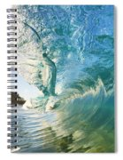 Beautiful Wave And Sunlight Spiral Notebook