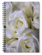 Beautiful White Roses Spiral Notebook