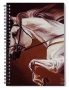 Beautiful White Running Horse 9iu Spiral Notebook