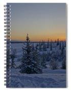 Beautiful Winter Sunrise Spiral Notebook