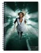 Beautiful Woman Diving In The Water Spiral Notebook