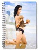 Beautiful Woman In Beach Heaven Spiral Notebook