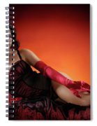 Beautiful Woman With A Glass Of Wine Spiral Notebook