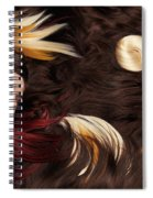 Beautiful Woman With Colorful Hair Extensions Spiral Notebook