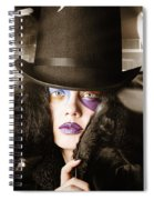 Beautiful Woman With Dark Hairstyle And Makeup Spiral Notebook