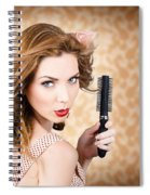 Beautiful Woman With Short Red Hair. Hairdressing Spiral Notebook