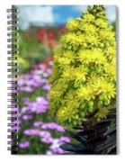 Beautiful Yellow Flowers On A Garden Background Spiral Notebook