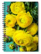 Beautiful Yellow Ranunculus Spiral Notebook