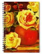 Beautiful Yellow Roses Spiral Notebook