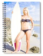 Beautiful Young Blond Surf Woman Spiral Notebook