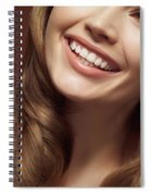 Beautiful Young Smiling Woman Spiral Notebook