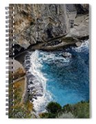 Beautifully Carved Out Swimming Deck On The Edge Of The Sea On The Amalfi Coast In Italy  Spiral Notebook