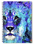 Beauty And The Beast - Lion Art - Sharon Cummings Spiral Notebook