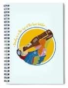 Beauty And The Beer Spiral Notebook