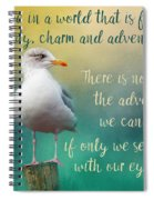 Beauty, Charm And Adventure Spiral Notebook