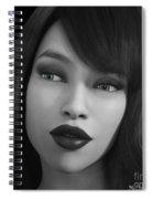 Beauty In B/w Spiral Notebook