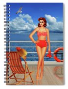 Beauty From The 50s In Bikini  Spiral Notebook