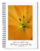 Beauty Is Its Own Excuse Poster Spiral Notebook