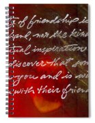 Beauty Of Friendship Spiral Notebook