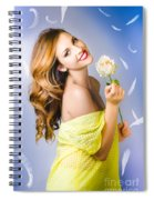 Beauty Of Romance Floating In The Summer Breeze Spiral Notebook