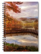 Beauty Of The Lake In Autumn Deep Tones Spiral Notebook
