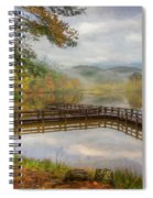 Beauty Of The Lake Oil Painting  Spiral Notebook