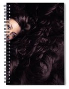 Beauty Portrait Of Woman Surrounded By Long Brown Hair  Spiral Notebook