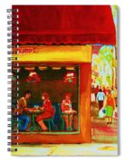 Beautys Cafe With Red Awning Spiral Notebook