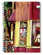 Beautys Luncheonette Montreal Diner Spiral Notebook