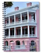 Beauutiful Pink Colonial Style Mansion Spiral Notebook