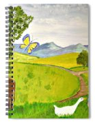 Becky And The Butterfly Spiral Notebook