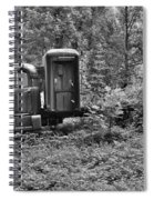 Becoming A Part Of The Landscape Black And White Spiral Notebook
