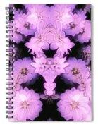 Bed Of Pink Dahlias Spiral Notebook