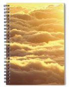 Bed Of Puffy Clouds Spiral Notebook