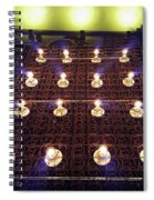 Bed Spring Lights Spiral Notebook