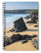 Bedruthan Steps, Cornwall Spiral Notebook
