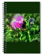 Bee Climbing Into Flower Spiral Notebook
