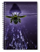 Bee Drilling Wood Spiral Notebook