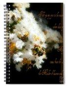 Bee In Crape - Verse Spiral Notebook