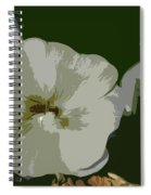 Bee In The Hollyhock Spiral Notebook
