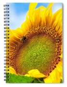 Bee On Sunflower Spiral Notebook