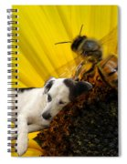 Bee With Dog Spiral Notebook